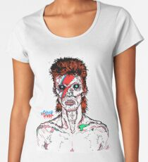 Aladdin Sane - David Bowie Infected Zombie.  Women's Premium T-Shirt