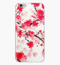 Red Cherry Blossoms iPhone Case