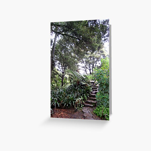 Up the Garden Steps Greeting Card