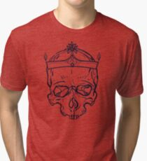 Vintage Skull with Crown Tri-blend T-Shirt