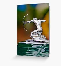 1935 P-A 845 Coupe Hood Ornament -1505c Greeting Card