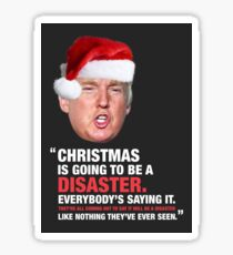 A Donald Trump Christmas Disaster Sticker