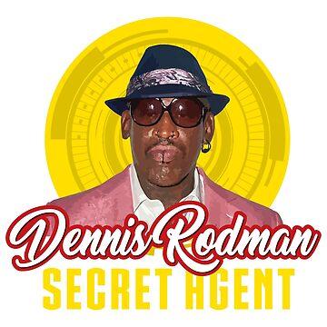 Dennis Rodman Tshirt - Dennis Rodman Secret Agent - Humor Shirt Parody by darkvortex