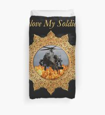 I lOVE My Soldier Army helicopter  Duvet Cover