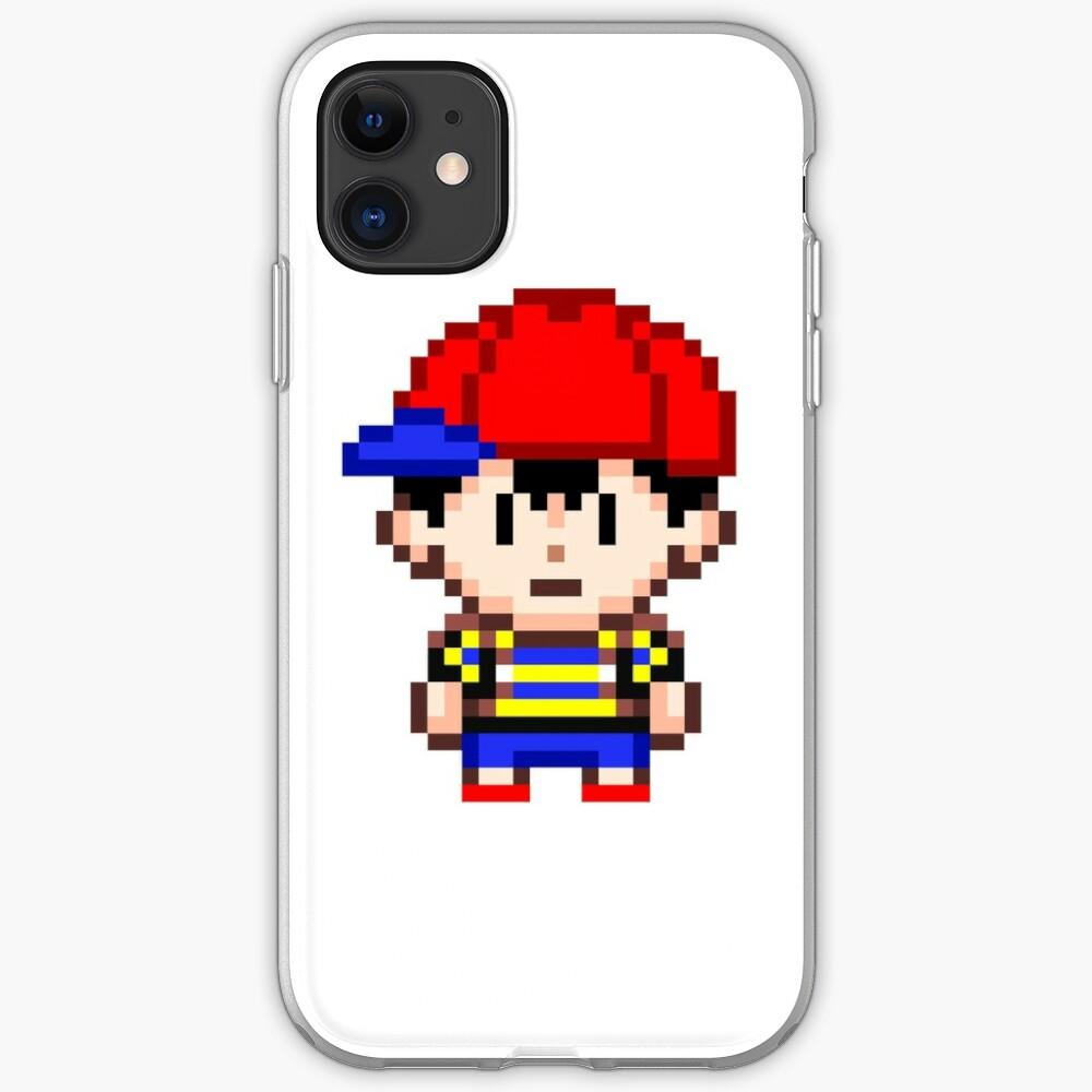 Ness Earthbound Smash Bros Mini Pixel Iphone Case Cover