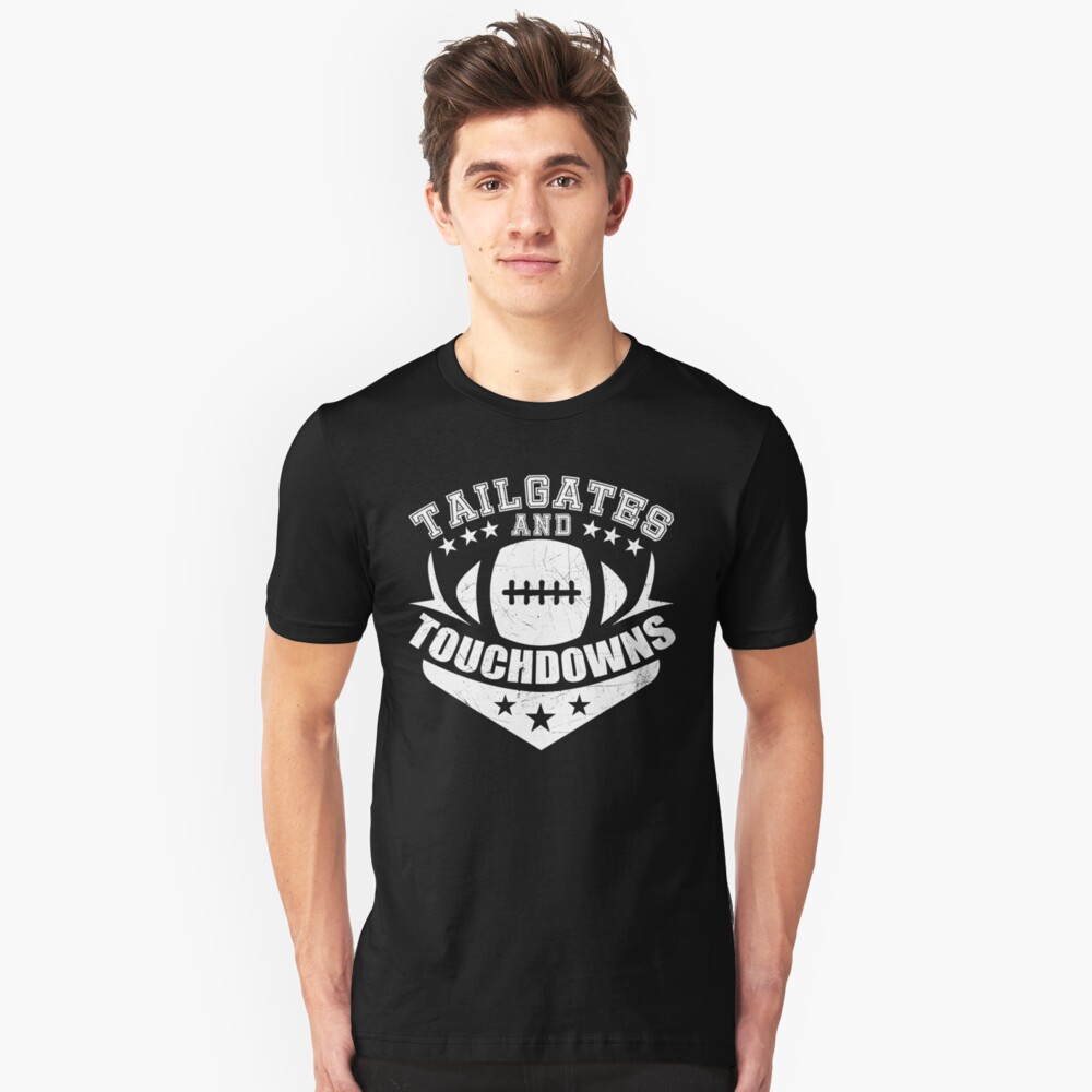 Tailgates And Touchdowns Tee Vintage Football Unisex T-Shirt Front