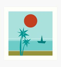 California Vibes Coolwater Art Print
