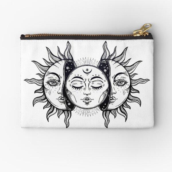 Vintage Sonnenfinsternis Sonne und Mond Täschchen