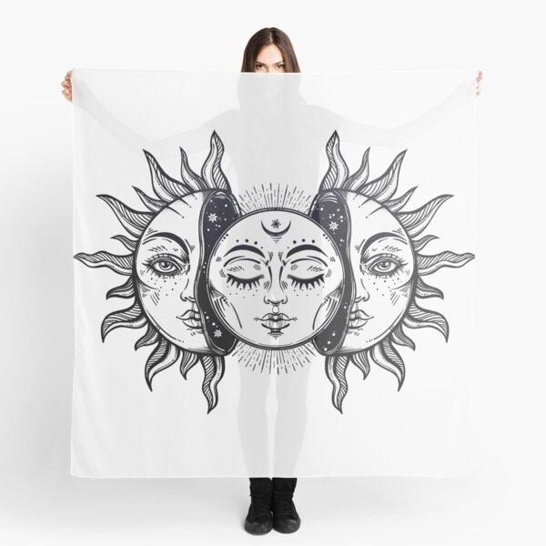 Vintage Solar Eclipse Sun and Moon Scarf