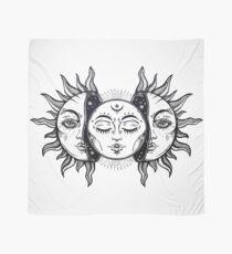 Vintage Sonnenfinsternis Sonne und Mond Tuch
