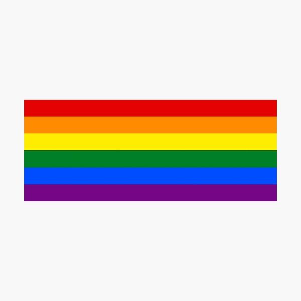 Drapeau gay arc-en-ciel Impression photo