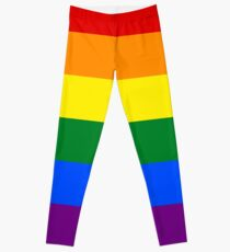Gay Pride Rainbow Flag Leggings