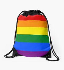 Gay Pride Rainbow Flag Drawstring Bag