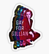 Gay For Gillian Sticker