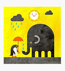Elephant and Penguin Photographic Print