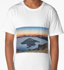 Sunset at Crater lake Long T-Shirt