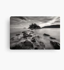 Whytecliff Park Seascape BW Canvas Print
