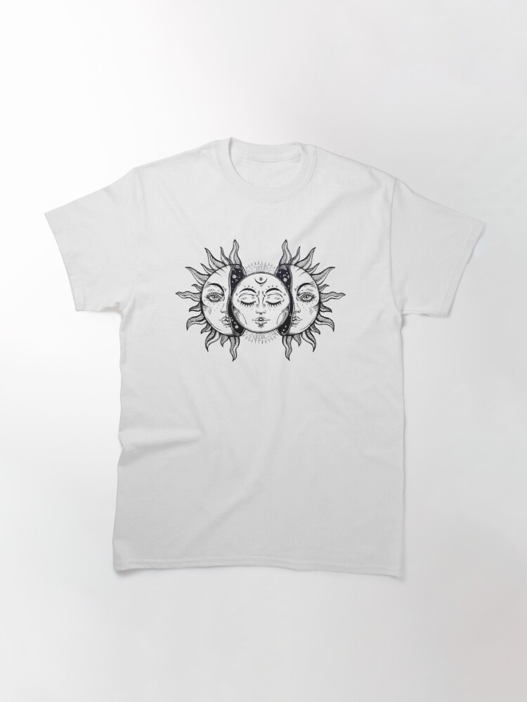 Alternate view of Vintage Solar Eclipse Sun and Moon Classic T-Shirt