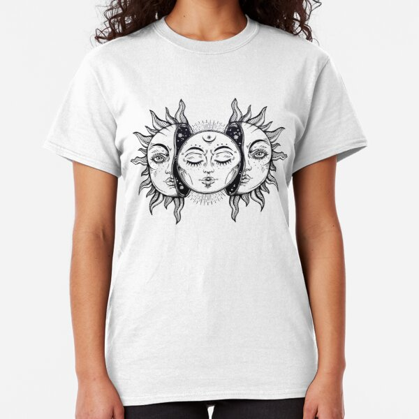 Vintage Solar Eclipse Sun and Moon Classic T-Shirt