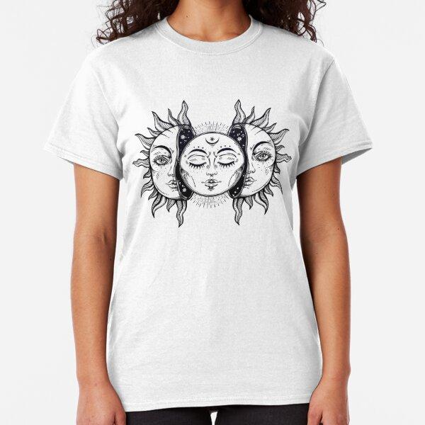 Vintage Sonnenfinsternis Sonne und Mond Classic T-Shirt