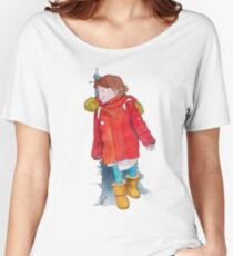 Hide-and-seek pen and watercolor illustration Women's Relaxed Fit T-Shirt