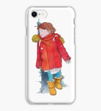Hide-and-seek pen and watercolor illustration iPhone Case/Skin