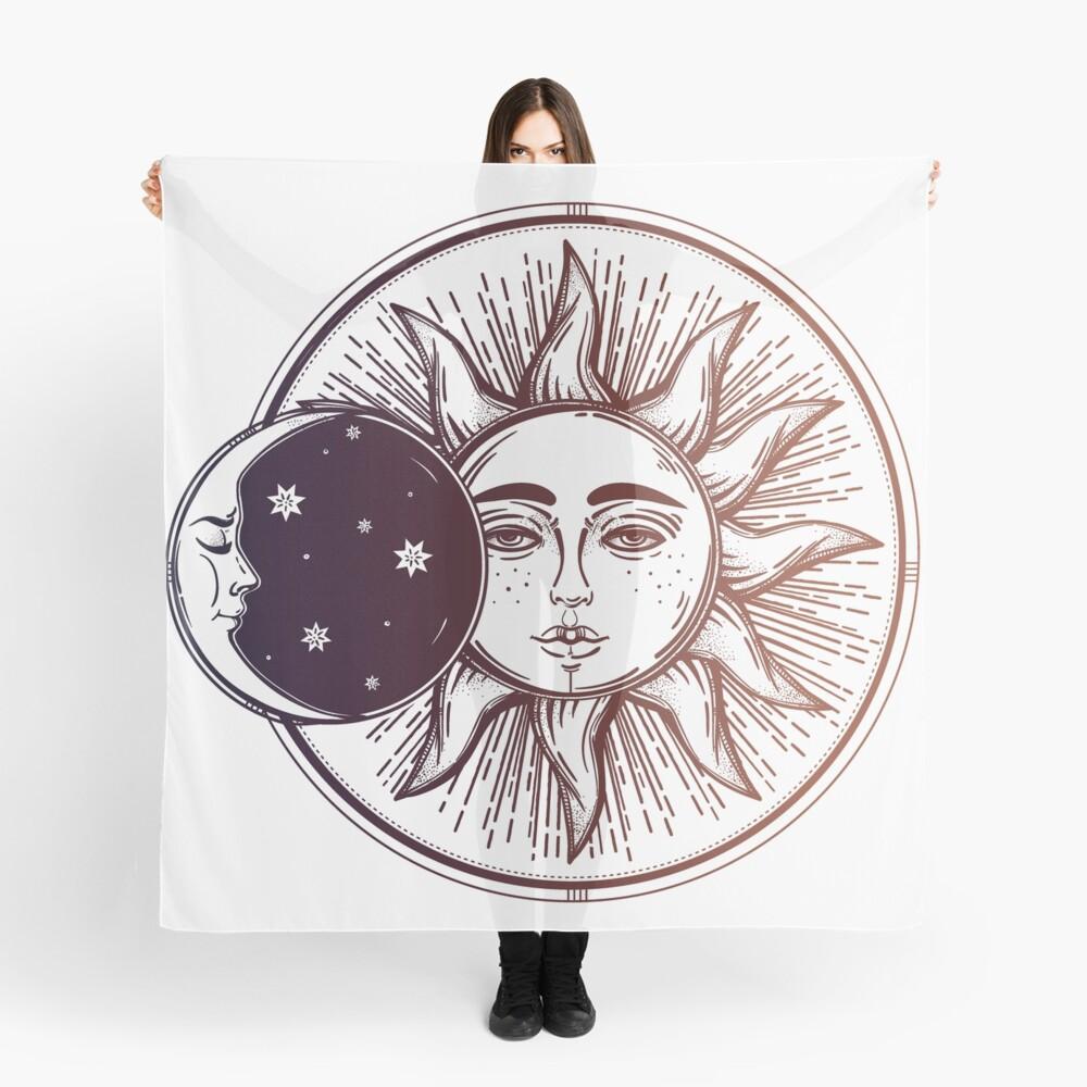 Vintage Sonnenfinsternis: Sonne, Mond und Sterne Tuch