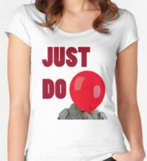 Just Do It (Red) Women's Fitted Scoop T-Shirt
