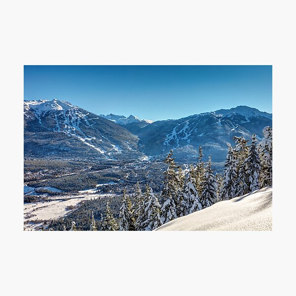 Whistler Blackcomb Mountains in Winter Photographic Print