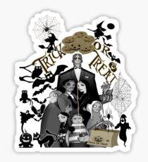 Halloween,  Addams Family , trick or treat ,  halloween t-shirts,  Funny Halloween t- shirts, Addams family t-shirt, funny t-shirt, Geek t-shirt Sticker