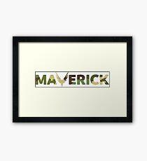 maverick camo  Framed Print