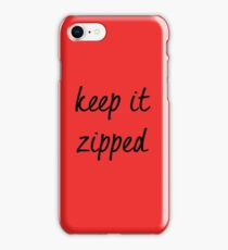 Ruby Redfort Inspired Keep it Zipped iPhone Case/Skin
