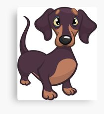 Dachshund My Lovely Dog Canvas Print