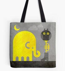 Elephant and Owl Tote Bag