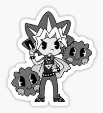 30s Yugi B&W Sticker