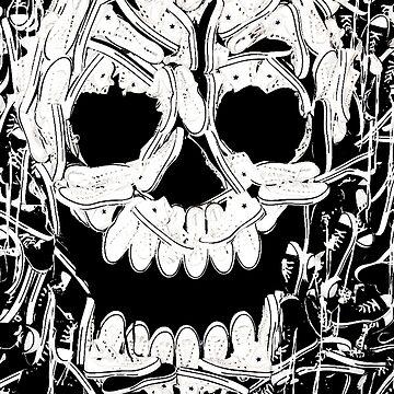 Sneaker Skull Face by jdamelio