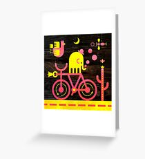 Bicycle Elephant Greeting Card