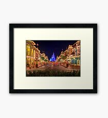 Nighttime On Main Street USA Framed Print