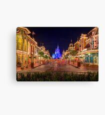 Nighttime On Main Street USA Canvas Print