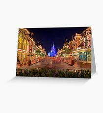 Nighttime On Main Street USA Greeting Card