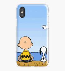 Charlie Brown Snoopy On Dock iPhone Case/Skin
