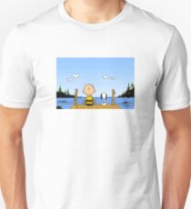 Charlie Brown Snoopy On Dock T-Shirt