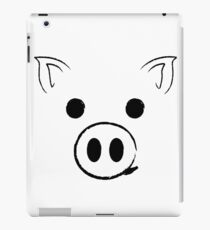Pig - Happy face Funny Cute Animal Gift iPad Case/Skin