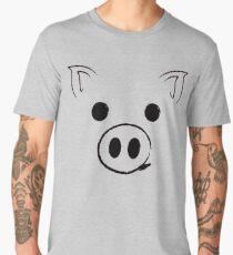 Pig - Happy face Funny Cute Animal Gift Men's Premium T-Shirt