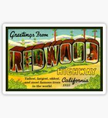 Redwood Highway Vintage Travel Decal California Sticker