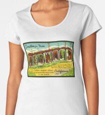 Redwood Highway Vintage Travel Decal California Women's Premium T-Shirt