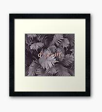 Rose gold dream - sepia fern Framed Print