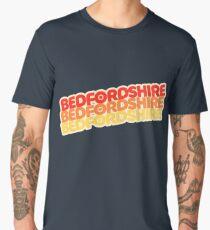 Bedfordshire | Retro Stack Men's Premium T-Shirt