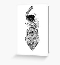 Fox Space Forest Greeting Card