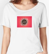 Merry Christmas Snowflake Circle Women's Relaxed Fit T-Shirt